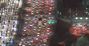 thanksgiving traffic in la as 3 5 million hit