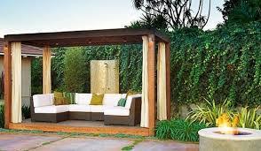 Pergola With Curtains Pergola Curtain Fabrics Home Outdoor Spaces