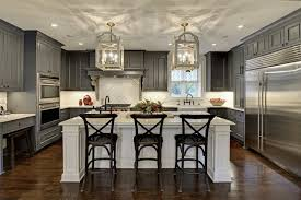 White Island Kitchen Cabinets With White Island Kitchen Ideas Photos Houzz