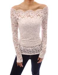 sleeve lace blouse pattyboutik floral lace scallop shoulder fitted sheer blouse