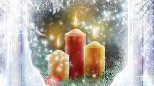 candles in the window winter nature background wallpapers on