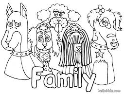 dog u0027s family coloring pages hellokids com