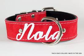 nola dog collar etsy handcrafted leather dog collars and dog leashes rad n bad collars