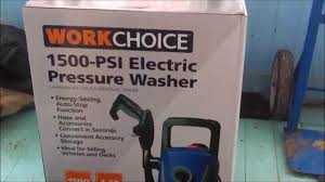 work choice 1500 psi electric pressure washer unboxing youtube