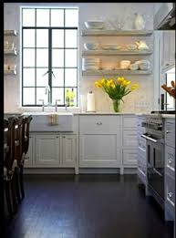Floating Shelves Kitchen by Open Shelving Soapstone Counters Marble Subway Tiles And Soapstone