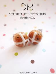 cinnamon bun earrings diy scented hot cross bun earrings adorablest