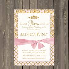 princess baby shower princess baby shower invitation pink and gold princess shower