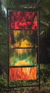 Garden Glass Art Outdoor Glass Sculpture Cherrie Laporte