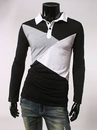 Patchwork Shops Uk - shops uk flmy3tte mens patchwork polo collar sleeve t shirt