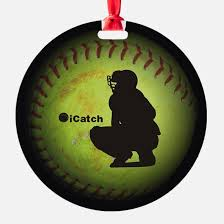 softball ornament cafepress