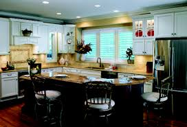 kitchen cabinets cherry finish haas cabinet co hampton door style full overlay wood species