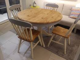 shabby chic dining table round solid pine grey and cream shabby chic farmhouse dining table