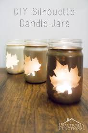 diy silhouette candle jars diy candles candle jars and spray