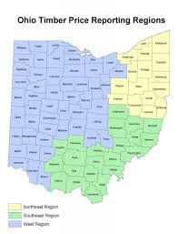 Southern Ohio Map by Ohio Timber Price Report Ohio Woodland Stewards Program