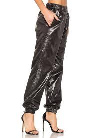 lyst kenzo light shiny pants in black
