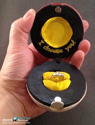 pokeball engagement ring paul pape designs pokémon poké wooden custom engagement ring box