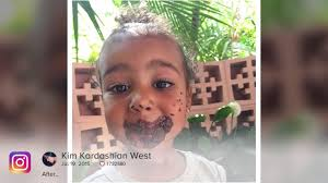 kim kardashian shares home video for north west u0027s birthday
