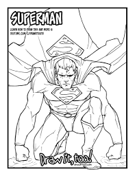 superman classic comic version tutorial u2013 draw it too