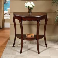 tantalizing half moon side table design offer mahogany wood