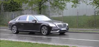 2018 mercedes benz s class facelift spotted in real life for the
