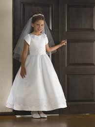 where to buy communion dresses wholesale cheap winsome white a line satin sleeves ankle