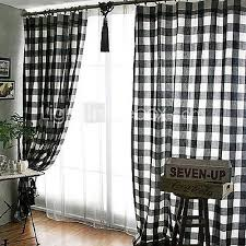 Black Check Curtains Black White Checkered Curtains 100 Images One Set Black White