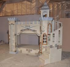 Castle Bunk Bed With Slide Kid U0027s Bedroom Furniture Custom Designed Built Themes