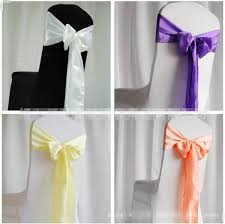 chair sash satin chair sashes new wedding craft decoration banquet sash craft