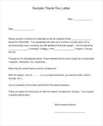 scholarship thank you letter samples church lt bgt thank yousample
