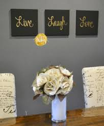 Live Love Laugh Home Decor Live Laugh Love Black U0026 Gold 3 Piece Wall Decor Set