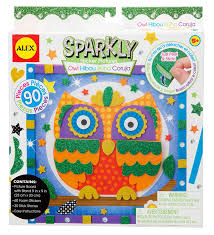 amazon com alex toys craft owl sparkly sticker pictures kit toys