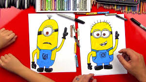 draw minion art kids hub