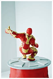 incredible iron man birthday cake between the pages