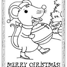 santa mouse coloring kids drawing coloring pages marisa