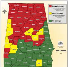 tornado map maps alabama and southeast tornado tracks rotation