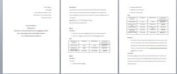 lab report template word how to write a general chemistry lab report 11 steps