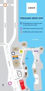 Michigan Stadium Parking Map Michigan Map by Chicago Bears Parking And Transportation Guide