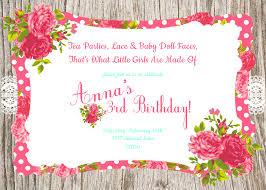 Birthday Cards Invitations Tea Birthday Party Invitations Cimvitation