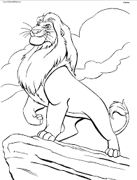 lion king pictures color kids coloring