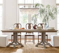Linden Fixed Table Grey Barn Room And Side Chair - Pottery barn dining room set