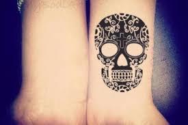 sugar skull temporary cinco de mayo black henna tattoos