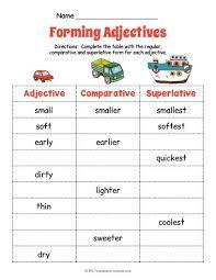 12 best adjective worksheets images on pinterest free printable