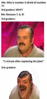 Why Me Meme - dopl3r com memes me why is number 5 afraid of number 7 3rd