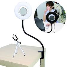 circle light for video amazon com 8 inch table top dimmable led selfie ring light with