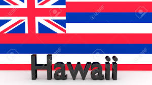 State Flags Of Usa Writing With The Name Of The Us State Of Hawaii Made Of Dark