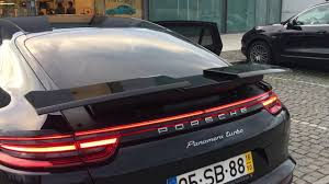 porsche panamera turbo 2017 back 2017 panamera turbo spoiler youtube