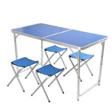lightweight folding table and chairs wholesale 5pcs lightweight folding chairs table easy set up portable