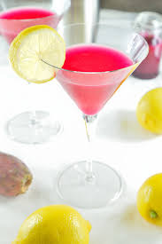 martini pear prickly pear lemon drop martini
