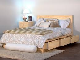 Queen Size Bed With Storage Bedroom Queen Size Captain Bed Beds With Drawers Underneath