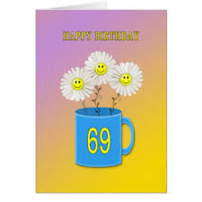 69th birthday card happy 69th birthday greeting cards zazzle